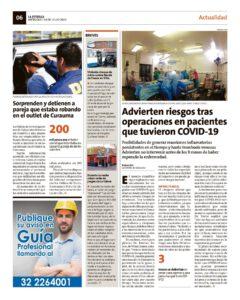 Riesgos tras operaciones en pacientes que tuvieron COVID-19, Wam Center